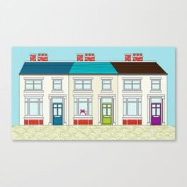 The Victorian Terrace Canvas Print