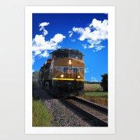 train Art Prints featuring Train by Phil Flaig