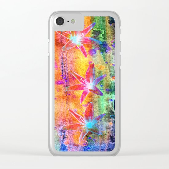Colorful Lilies Clear iPhone Case