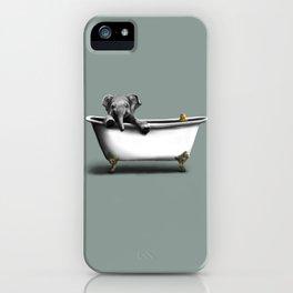 Elephant in Bath iPhone Case