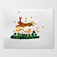 hare Canvas Prints featuring Hare by Condor