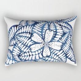 Indigo Frangipani Rectangular Pillow