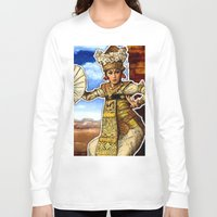 bali Long Sleeve T-shirts featuring Bali Dancer by yadi sudjana