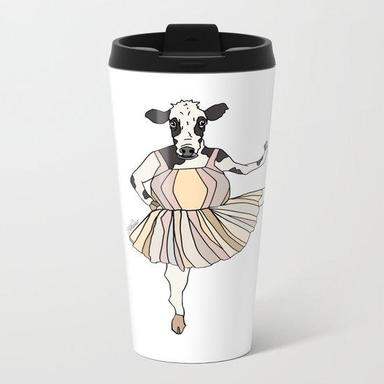 Cow Ballerina Tutu Metal Travel Mug