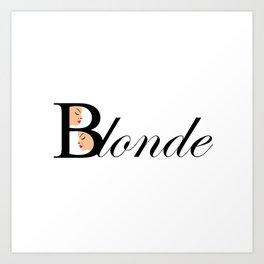 Beautiful blonde women Art Print