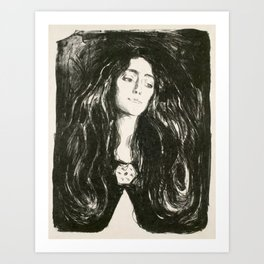 Edvard Munch The Brooch Eva Mudocci Art Print