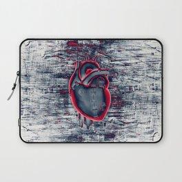 Gamer Heart BLUE CRIMSON / 3D render of mechanical heart Laptop Sleeve