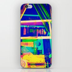 Industrial Abstract Blue iPhone & iPod Skin