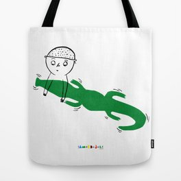 Crocodile Float Tote Bag