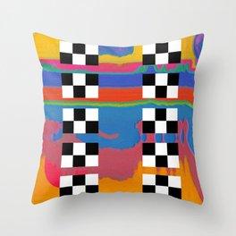 drag scan Throw Pillow
