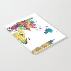 Geometric World Map Notebook