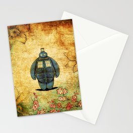 changes into a tardis Stationery Cards