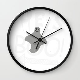 Halloween Couples Funny He's My Boo Ghost Wall Clock