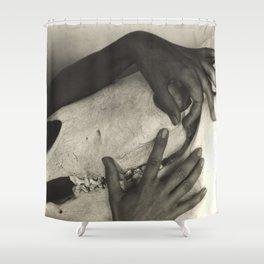 Georgia O'Keeffe - Hands and Horse Skull 1931 Alfred Stieglitz Shower Curtain