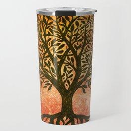 Tree Of Life Warm Tones Travel Mug