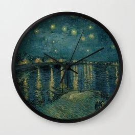 The starry night over the Rhône, 1888, Vincent van Gogh, Musée d'Orsay, Paris. Wall Clock