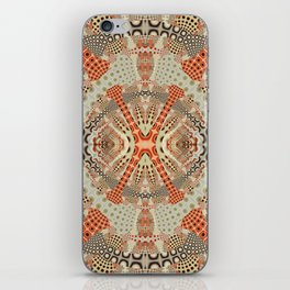 Playful retro patterns in fall colors iPhone Skin
