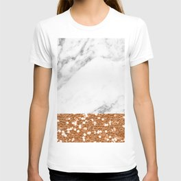Marble and brass glitter T-shirt