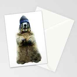 Wooly Marmot by Crow Creek Cool Stationery Cards