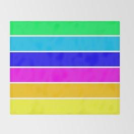 Bright Stripes Throw Blanket