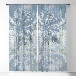 Winter Flakes Sheer Curtain