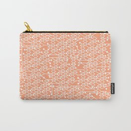 Microchip Pattern (Orange) Carry-All Pouch