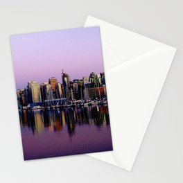 Stanley Park Skyline Stationery Cards