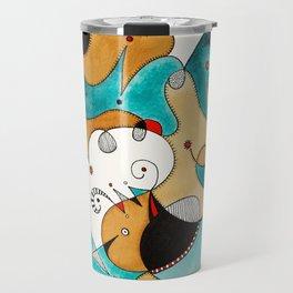 Abstract Tea Critters Travel Mug