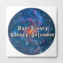 Non binary galaxy design Metal Print