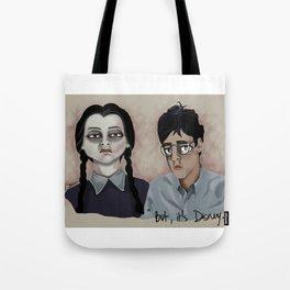 Wednesday Addams and Joel Tote Bag