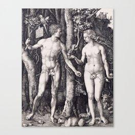 Adam and Eve by Albrecht Dürer Canvas Print