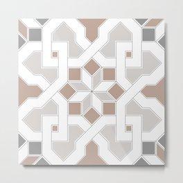 Geometric Pattern - Oriental Design Pt. 5 Metal Print