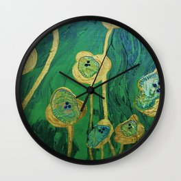 Lotus Blossoms in the Swamp Wall Clock