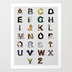 Star W. alphabet Art Print