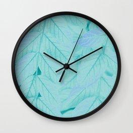 Botanical Leaves - JUSTART (c) Wall Clock