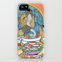 Dogs Eating Ramen iPhone Case