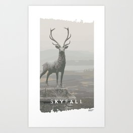 Bond. James Bond in Skyfall Art Print