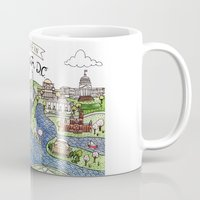 washington Mugs featuring Washington DC by Brooke Weeber