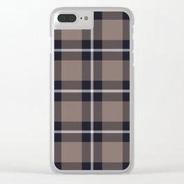 big dark weave monochrome Clear iPhone Case