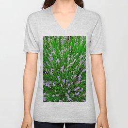 Lavender Close Up Unisex V-Neck