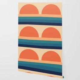70's Retro Sunset Wallpaper
