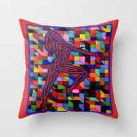 onward Throw Pillows featuring Onward and Upward by Ana Lillith Bar