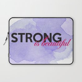 Strong is beautiful: breast cancer strong Laptop Sleeve