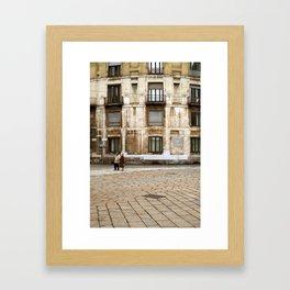 strolling in Milan Framed Art Print