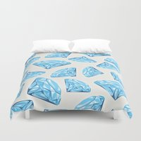 diamond Duvet Covers featuring diamond by Ceren Aksu Dikenci