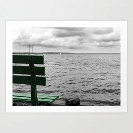 Gloomy Lake Days Art Print