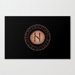 Hagalaz - Elder Futhark rune Canvas Print