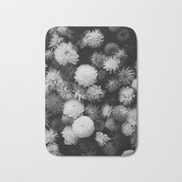 In Bloom (Black and White) Bath Mat