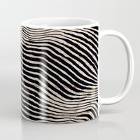 calligraphy Mugs featuring it's waving calligraphy by Anna Grunduls