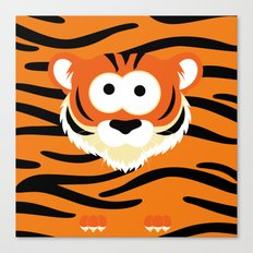 Minimal Tiger Canvas Print